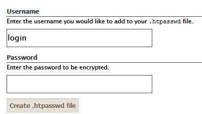 логин и пароль для .htpasswd