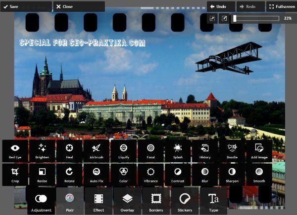 редактор фотографий с эффектами онлайн на русском - фото 9