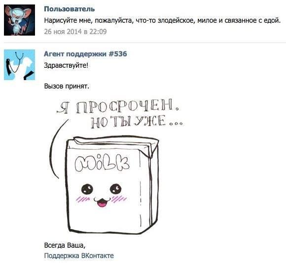 Ответ службы поддержки ВКонтакте